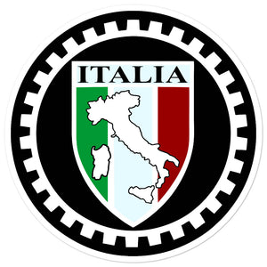 Italia Shield With Boot Circle stickers - Guidogear