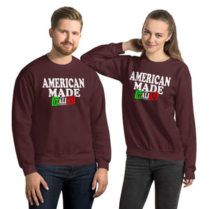 American Made With Italian Parts Unisex Sweatshirt - Guidogear