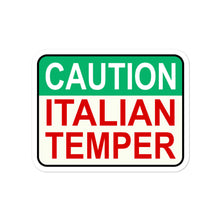Load image into Gallery viewer, Caution Italian Temper Bubble-free stickers - Guidogear