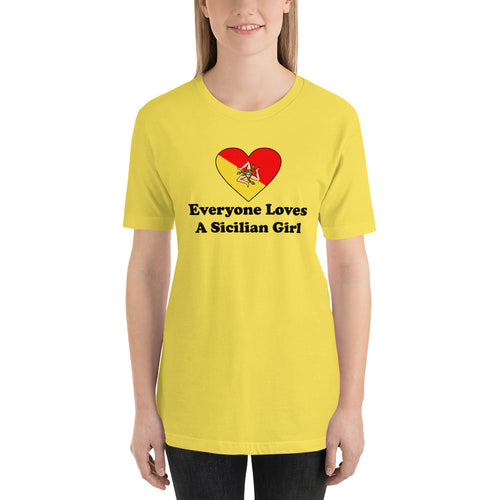 Everyone Loves A Sicilian Girl Short-Sleeve Unisex T-Shirt - Guidogear