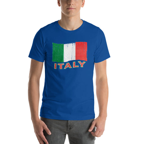 Vintage Italy Flag Short-Sleeve Unisex T-Shirt - Guidogear