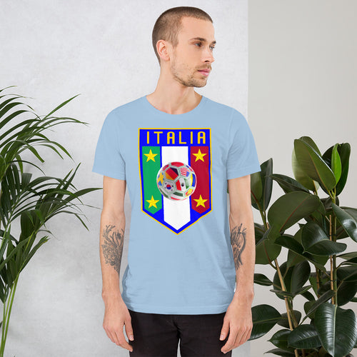 Italia Soccer Shield Short-Sleeve Unisex T-Shirt - Guidogear