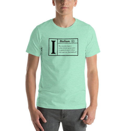 Italian Defined Short-Sleeve Unisex T-Shirt - Guidogear