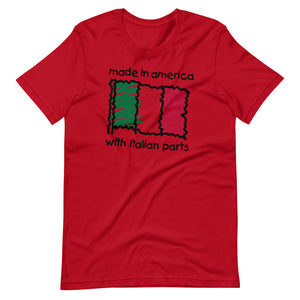 Made In America With Italian Parts Short-Sleeve Unisex T-Shirt - Guidogear