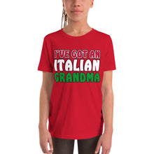 Load image into Gallery viewer, I've Got An Italian Grandma Youth Short Sleeve T-Shirt - Guidogear