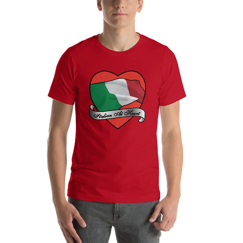 Italian At Heart Short-Sleeve Unisex T-Shirt - Guidogear