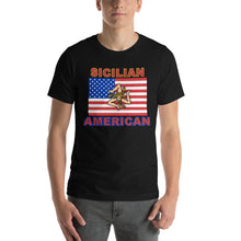 Load image into Gallery viewer, Sicilian American Short-Sleeve Unisex T-Shirt - Guidogear