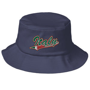 Italy Flag Tail Old School Bucket Hat - Guidogear
