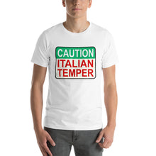 Load image into Gallery viewer, Caution Italian Temper Short-Sleeve Unisex T-Shirt - Guidogear