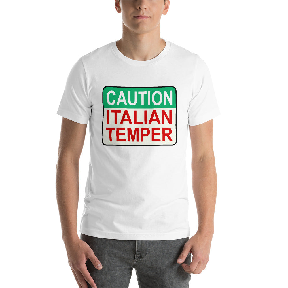 Caution Italian Temper Short-Sleeve Unisex T-Shirt - Guidogear