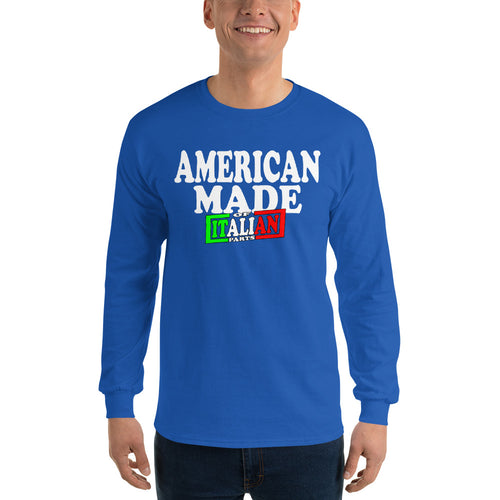American Made With Italian Parts Unisex Long Sleeve Shirt - Guidogear