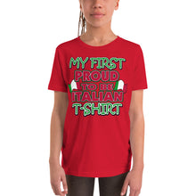 Load image into Gallery viewer, My First Proud To Be Italian Youth Short Sleeve T-Shirt - Guidogear