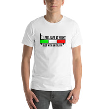 Load image into Gallery viewer, Feel Safe At Night, Sleep With An Italian Short-Sleeve Unisex T-Shirt - Guidogear