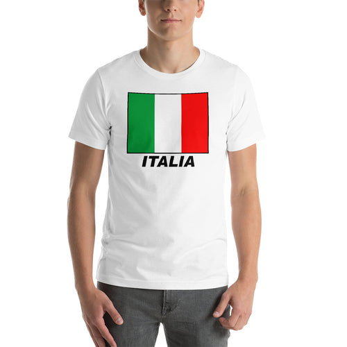 Italia Flag Short-Sleeve Unisex T-Shirt - Guidogear