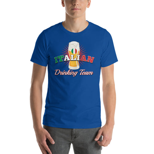 Italian Drinking Team Short-Sleeve Unisex T-Shirt - Guidogear