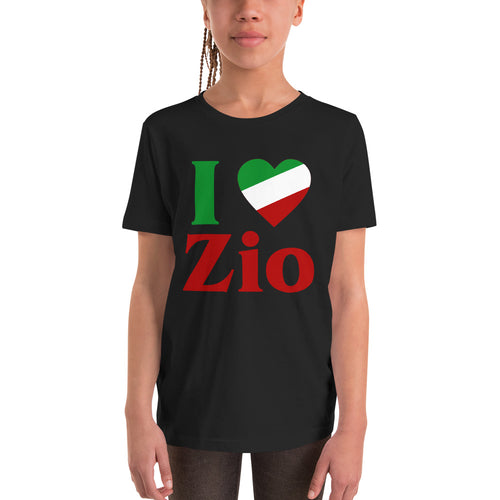 I Love Zio Youth Short Sleeve T-Shirt - Guidogear