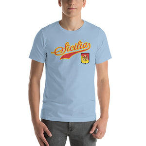 Sicilia Tail With Shield Short-Sleeve Unisex T-Shirt - Guidogear