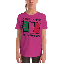 Load image into Gallery viewer, Made In America With Italian Parts Youth Short Sleeve T-Shirt - Guidogear
