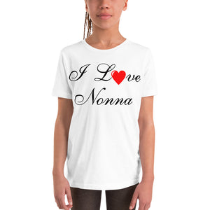 I Love Nonna Youth Short Sleeve T-Shirt - Guidogear
