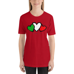 Italian Hearts Short-Sleeve Unisex T-Shirt - Guidogear
