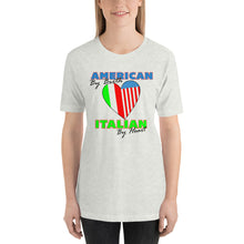 Load image into Gallery viewer, American By Birth Italian By Heart Short-Sleeve Unisex T-Shirt - Guidogear