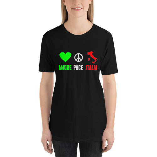 Amore Pace Italia Short-Sleeve Unisex T-Shirt - Guidogear