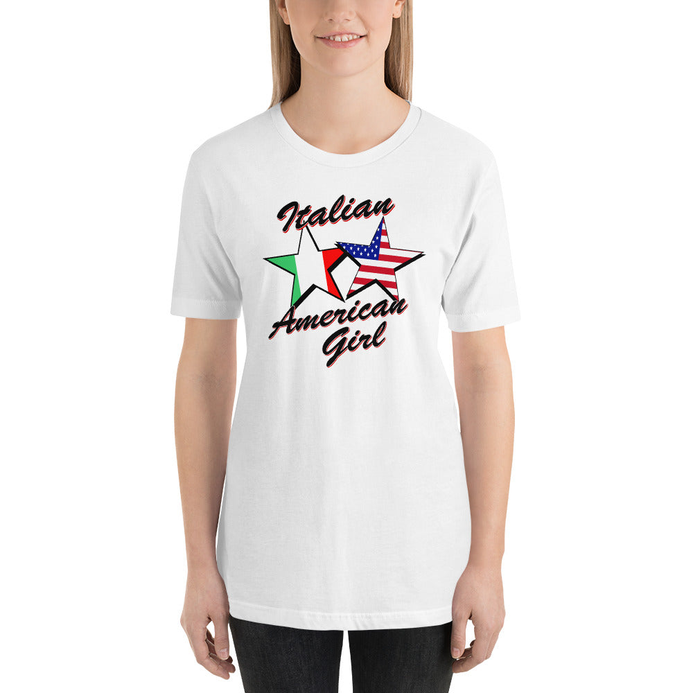 Italian American Girl Short-Sleeve Unisex T-Shirt - Guidogear