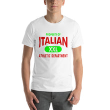 Load image into Gallery viewer, Property Of Italian Color Italian Short-Sleeve Unisex T-Shirt - Guidogear