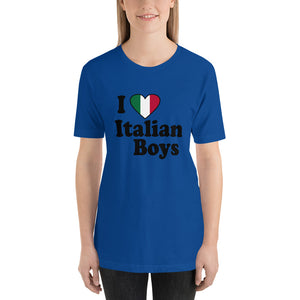 I Love Italian Boys Short-Sleeve Unisex T-Shirt - Guidogear