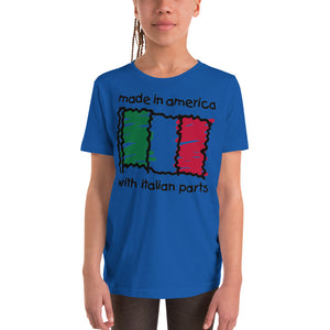 Made In America With Italian Parts Youth Short Sleeve T-Shirt - Guidogear