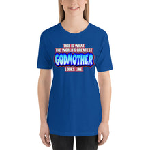 Load image into Gallery viewer, World's Greatest Godmother Short-Sleeve Unisex T-Shirt - Guidogear