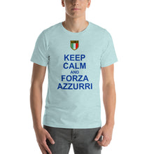 Load image into Gallery viewer, Keep Calm and Forza Azzurri Short-Sleeve Unisex T-Shirt - Guidogear