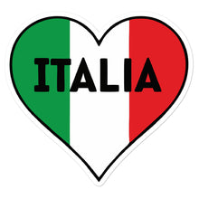 Load image into Gallery viewer, Italia Heart & Flag Decal Bubble-free stickers - Guidogear