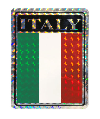 Reflective Italia Flag  Decal - Guidogear