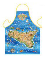 Sicily Map Apron - Guidogear