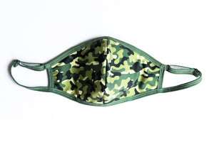 Green Camo Curve Mask