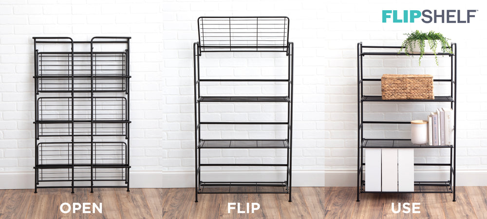 FlipShelf Metal Shelving in Seconds
