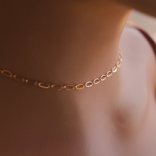 Gold Dust Dainty Choker / Short Necklace