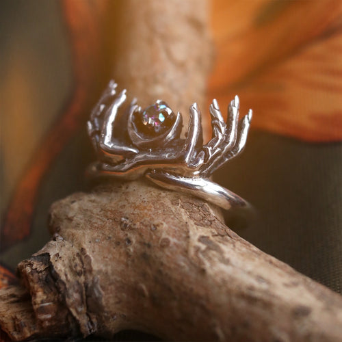 The Spirits Are Calling Mystic Quartz Gothic Ring