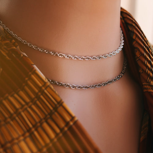 Single Rope Chain Necklace | Length & Colour Choice