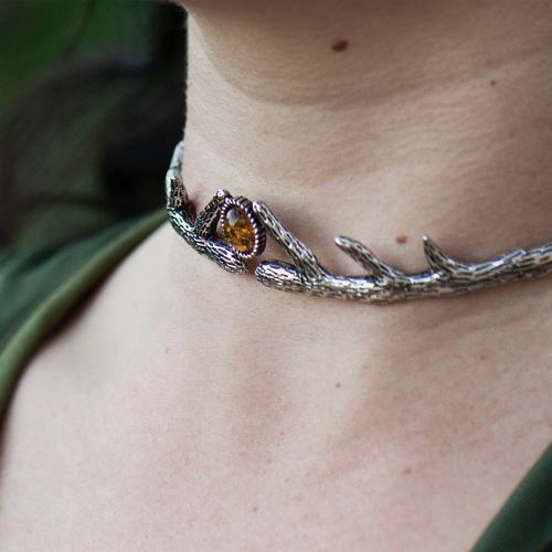Queen Of The Woods Boho Antler Choker | Talent Scout Winner