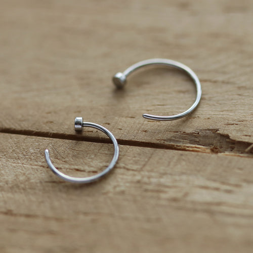 Little Surgical Steel Nose Ring