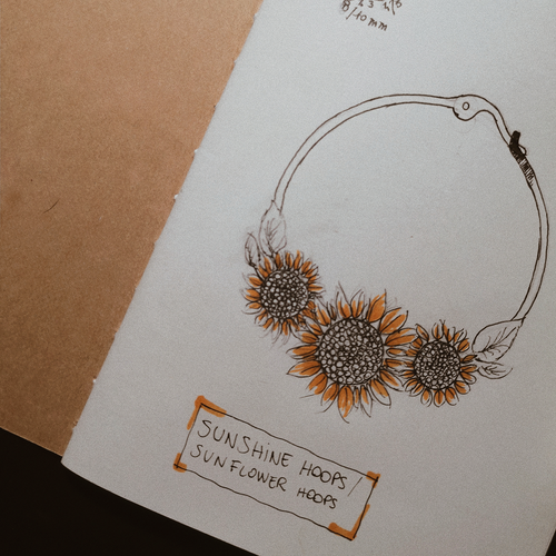 Sunflower Hoop Boho Earrings | Talent Scout Winner