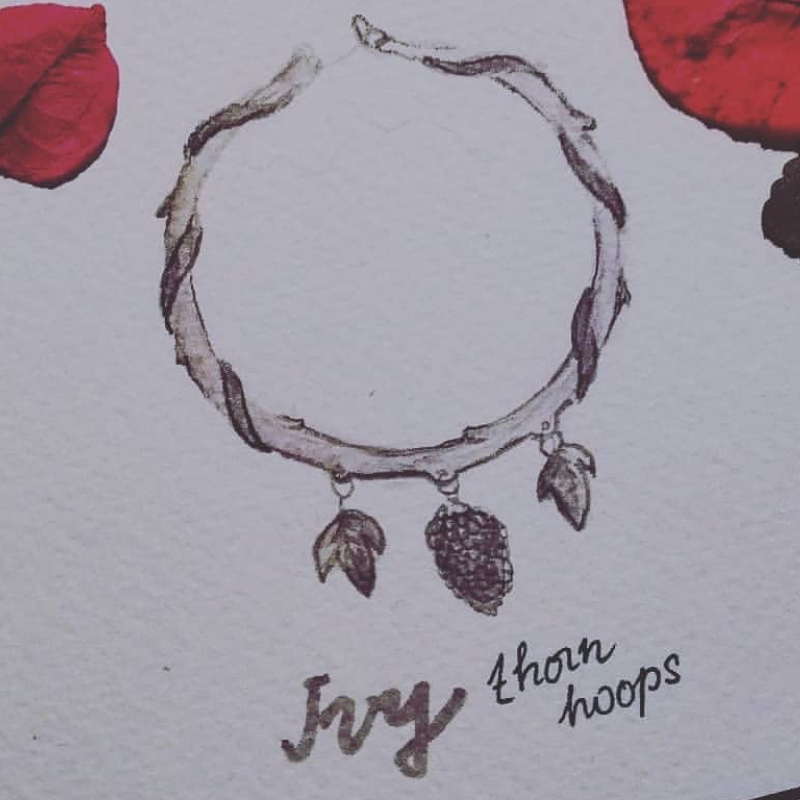 Evergreen Ivy Woodlands Hoop Earrings | Talent Scout Winner