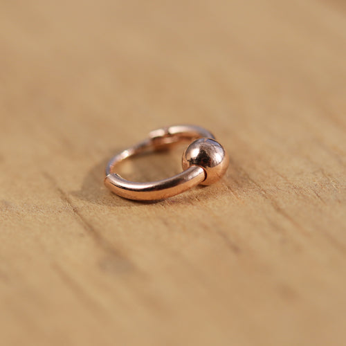 Ball Detailed Rose Gold Mini Snuggie Hoop