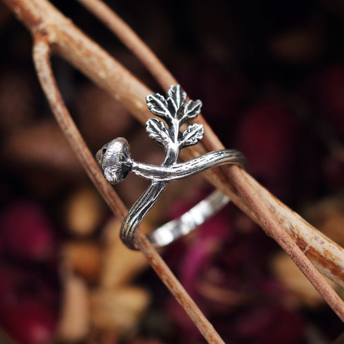 LAST CHANCE Forest Floor Mushroom & Fern Boho Ring | Talent Scout Winner