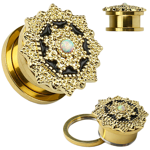 Serefina Gold Bohemian Ear Tunnel / Plug