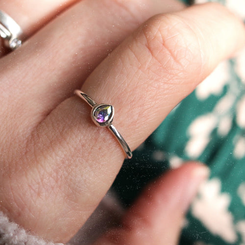Good Witch's Healing Tears Sterling Silver Mystic Ring