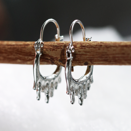 Ice Chasm Mini Hoop Earrings *Colour Select