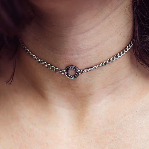Metis Sun Choker / Necklace Silver